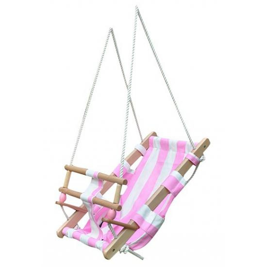 Baby Schommelstoel Roze.Baby Of Peuter Schommel Wit Roze Voor Maar 44 95 Bij Viavoordeel